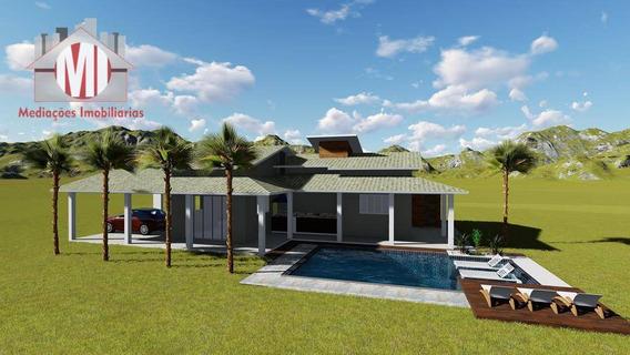 Lindo Projeto De Chácara Na Planta Com 02 Dormitórios À Venda, 1000 M² Por R$ 330.000 - Monte Alegre Do Sul/sp - Ch0028