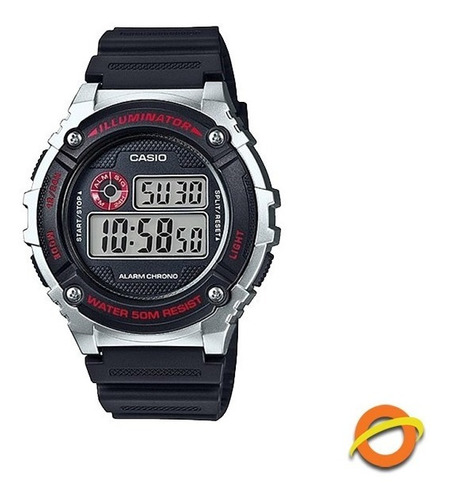 Reloj Casio W-216 Sumergible Digital Cronometro Alarma Wr50