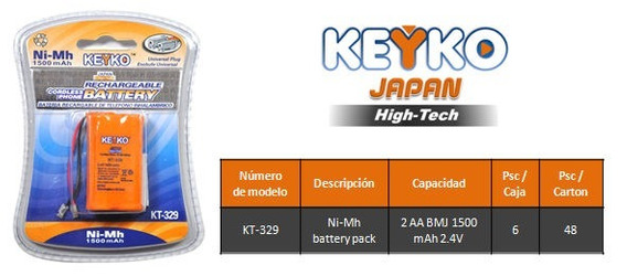 Bateria Recargable Keyko Kt-329