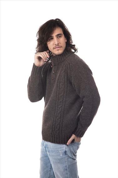 Sweater Quillén Vellón Negro 100% Lana Virgen Patagonia