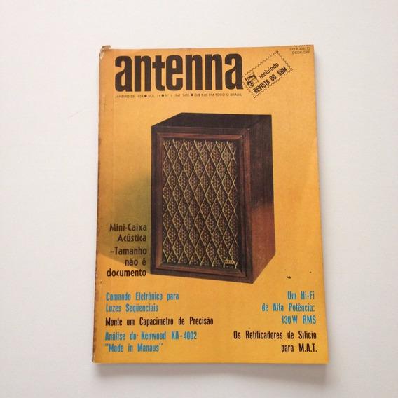 Revista Antenna Nº 01 Janeiro De 1974 Mini Caixa Acústica