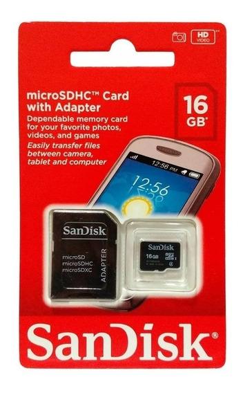 Cartão De Memoria Microsd Sandisk 16gb