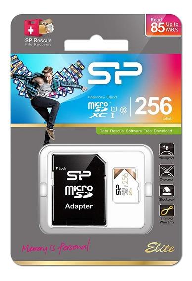 Cartão Silicon Power Micro Sd Elite 256gb A1 Sdxc Class 10