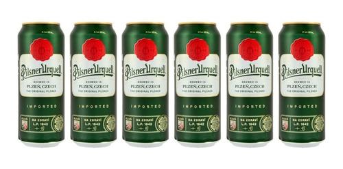 Six Pack De Cervezas Checas Pilsner Urquell De 500 Ml (lata)