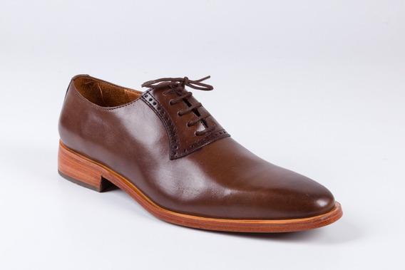 Zapatos De Cuero Marrón Caoba Para Hombre - Modelo Zurich