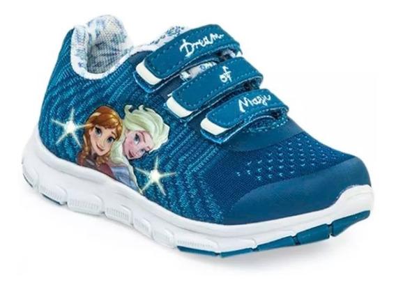 Zapatillas Addnice Luces Frozen Disney Elsa Ana Fty Calzados