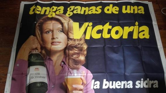 Afiche Antiguo Publicidad Sidra La Victoria Coleccion