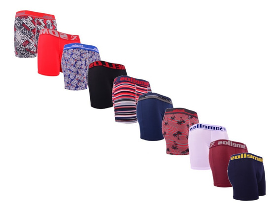 Cueca Boxer - Atacado - Kit 10 Cuecas Box Boxer Somellos