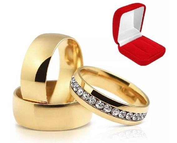 Aliança 6mm Banhado Ouro 18k Casamento Noivado Namoro