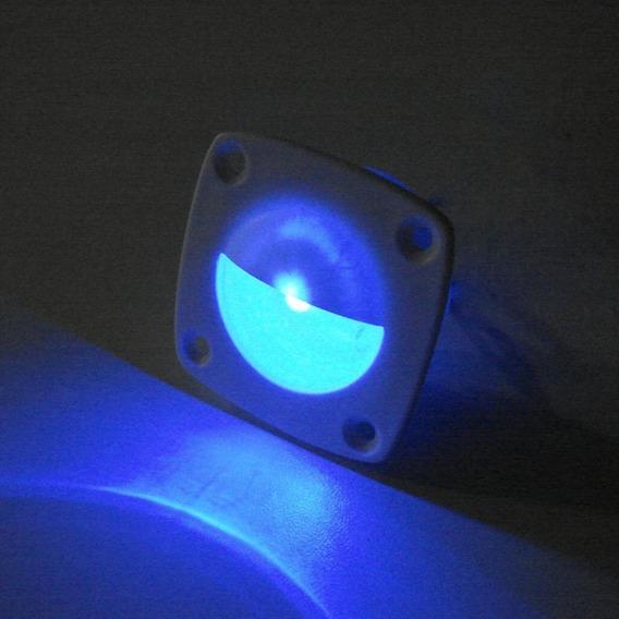 Luz Cortesia Abs Branca 2 Leds Azul 12v Barco Lancha Veleiro