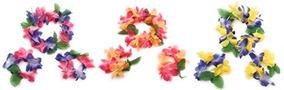 Juego De Diadema Y Pulsera Mahalo Con Estampado Floral Leis