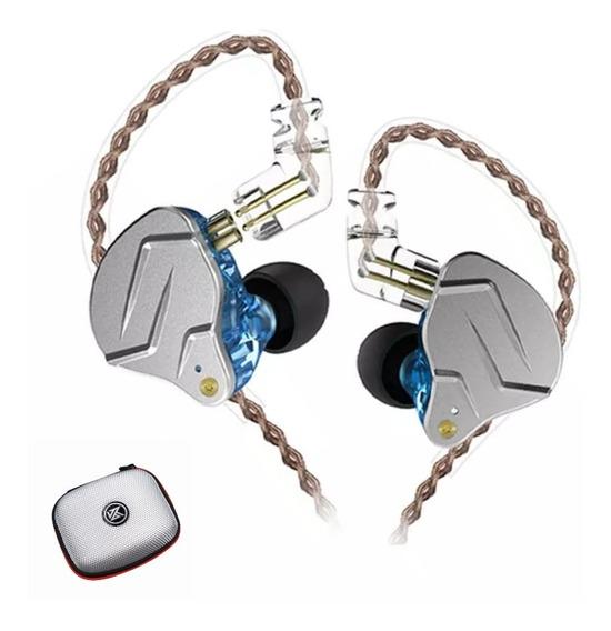 Fone Kz Zsn Pro Sem Microfone + Case Brinde Pronta Entrega