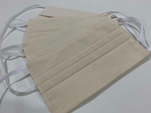 Kit Com 5 Máscaras De Algodão Cru Dupla Camada (proteção)