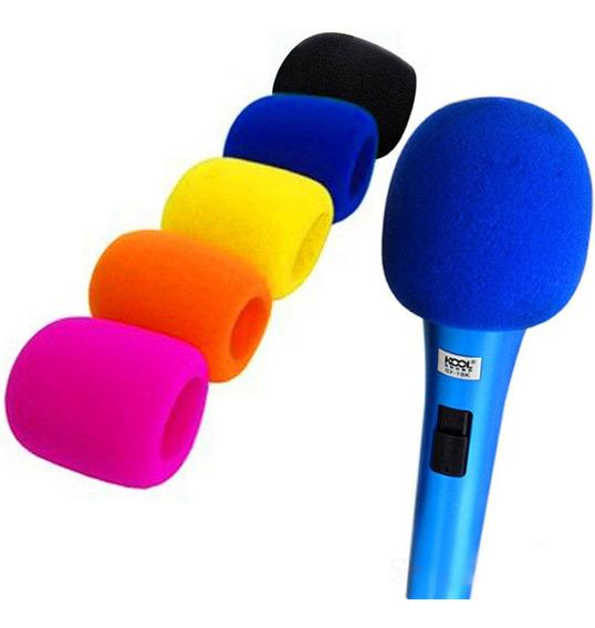 Kit - Goma Protectora De Colores P/ Microfono Espuma Pop