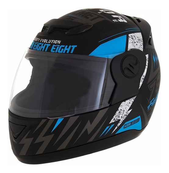 Capacete para moto integral Pro Tork Evolution G6 Factory Racing preto/azul tamanho 58