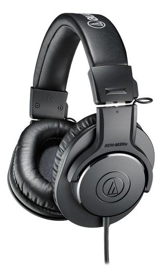 Fone de ouvido Audio-Technica ATH-M20x preto