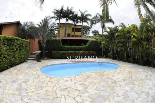 Casa Com 4 Dormitórios À Venda, 464 M² Por R$ 1.700.000,00 - Condomínio Vista Alegre - Sede - Vinhedo/sp - Ca0753