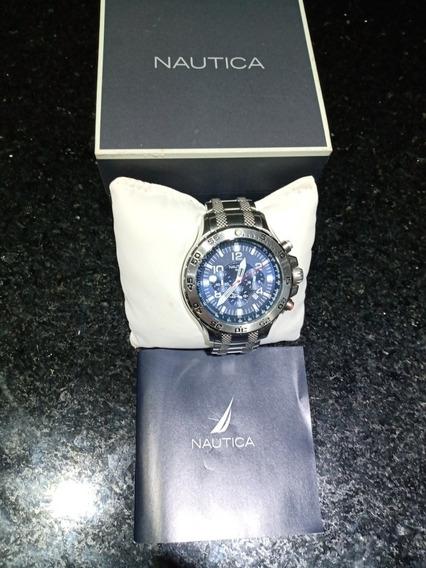 Relógio Náutica Fundo Azul N19509g