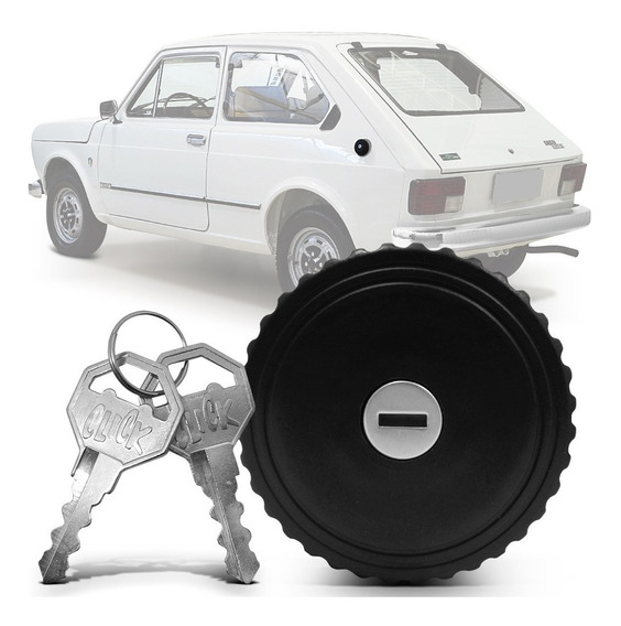 Tampa Tanque Fiat 147 Panorama 1976 A 1985 Com Chaves