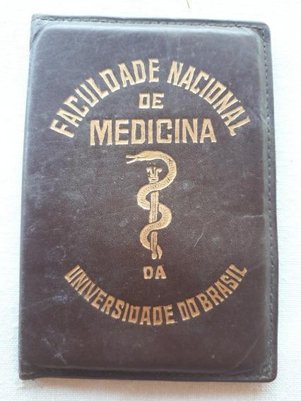 Carteira Universidade Brasil Medicina Couro