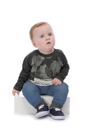Camiseta Meia Malha Bebê Up Baby