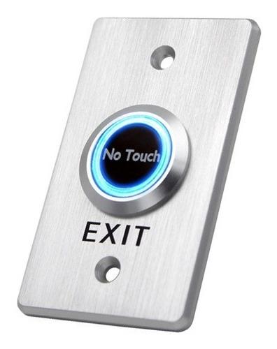 Botón Pulsador Acero Infrarrojo Con Led Control De Acceso