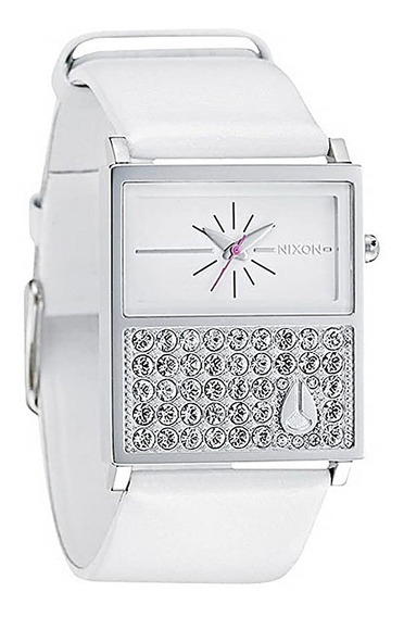 Relógio Nixon Chalet Leather Crystal White - Original