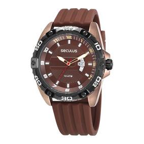 Relógio Seculus Masculino 28941gpsvmi1 Esportivo Chocolate