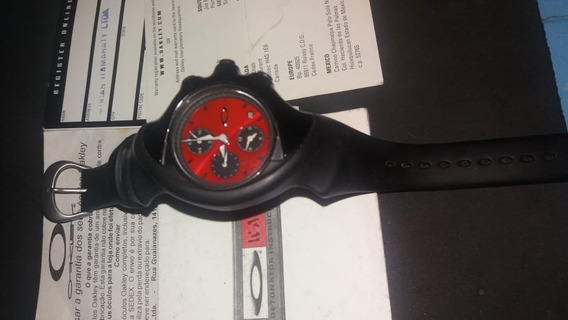 Relógio Oakley Detonator Cronograph Vermelho