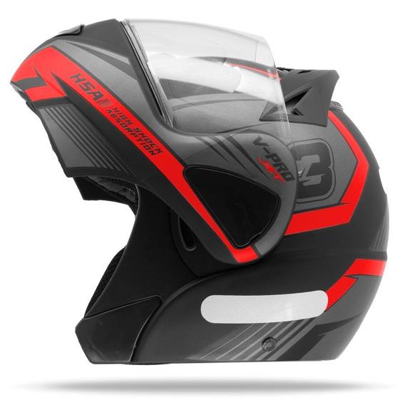 Capacete Moto Robocop Pro Tork V-pro Jet 3 Vermelho