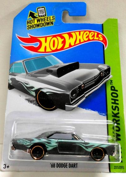 68 Dodge Dart Plateado Con Flamas-hot Wheels Escala 1/64