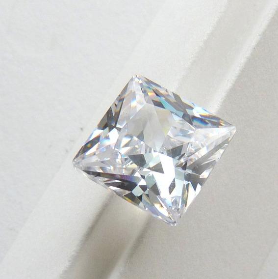 Zircônia Branca Brilhante Quadrada 11x11 Mm Preço Par 5985