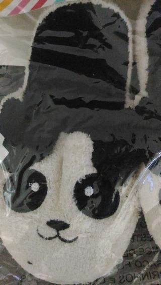 Chinelo Pantufa Panda Infantil