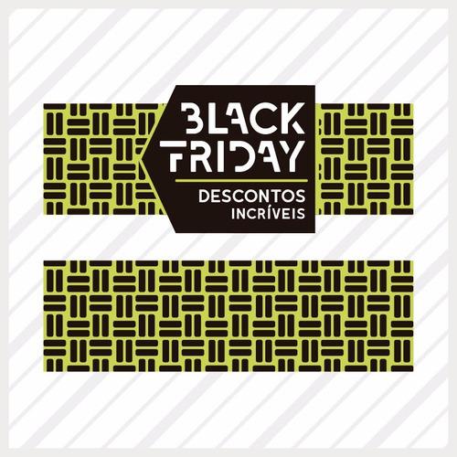 Adesivo Para Vitrine Black Friday Estampa + Aplicador Grátis