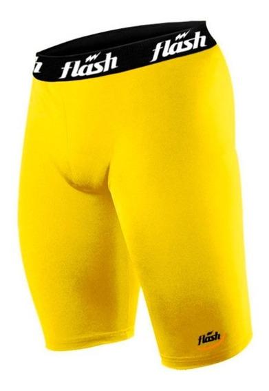 Calza Corta Bermuda Hombre Futbol Colores Spandex Flash Fivra