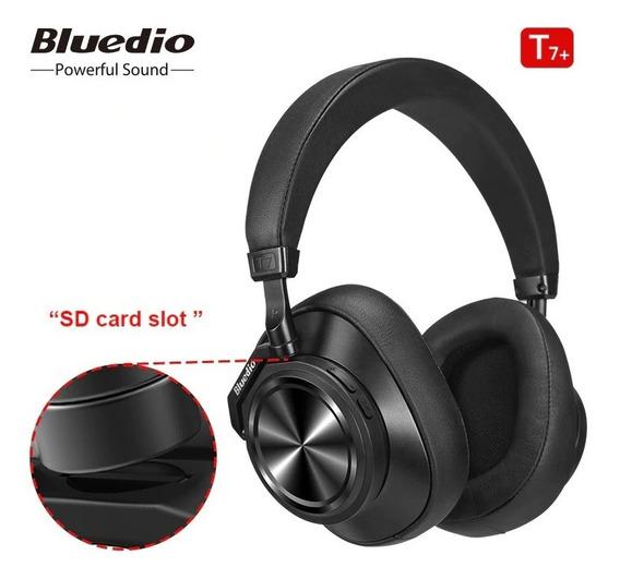 Fone Bluetooth Bluedio T7+ Com Entrada Cartão Memoria Top !