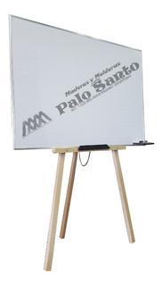 Tablero Cuadriculado 1.20 X 80cm Con Trípode Perfil Aluminio