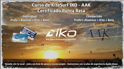 Escuela E Kitesurf Curso Clases Punta Rasa C/bote De Apoyo