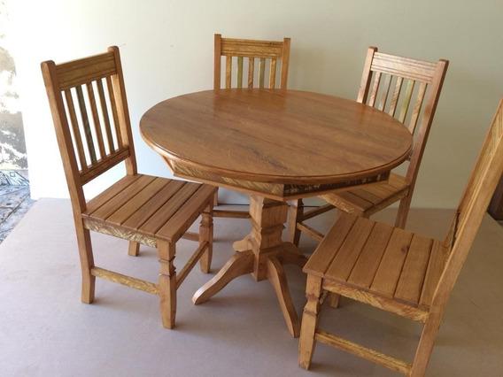 Mesa De Jantar Cozinha 1,00 Metro +4 Cadeiras Cadeiras