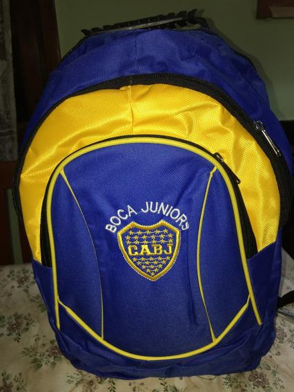Mochila Boca Jrs Grande Urbana Y Deportiva