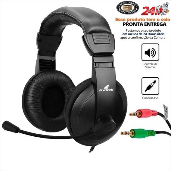 Fone De Ouvido Headset 25mw 32 Ohms Preto Hsl-102 Fortrek