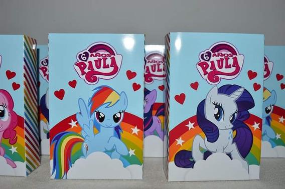 10 Bolsitas Golosineras Personalizadas Mi Pequeño Pony