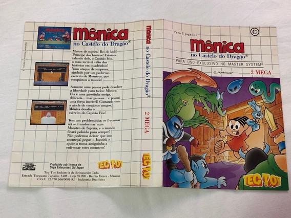 Master System : Apenas O Encarte Monica No Castelo Do Dragão