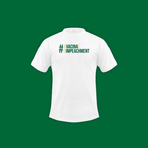 Camiseta #avacinaéoimpeachment