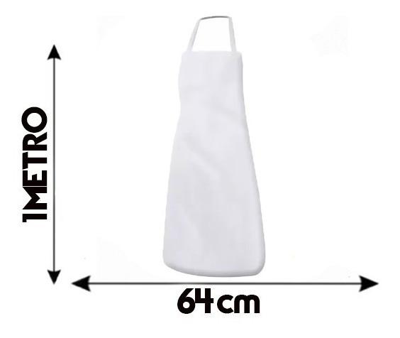 Cozinha Kit C/3 Avental Açougueiro Pvc Branco Pvc Kit