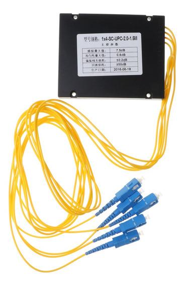 Splitter Fibra Plc 4 Portas Com O Pacote Plástico Sc / Upc