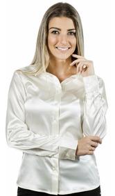 Camisa Feminina Lunya - Cetim C/ Elastano - Pimenta Rosada