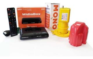 Receptor Digital Midiabox B4 Century + Lnbf Monoponto Capa