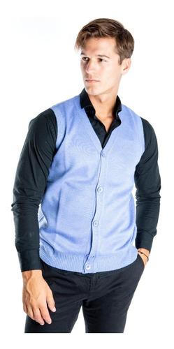 Imagen 1 de 1 de Sweater Hombre Chaleco Con Botones Olegario Colores