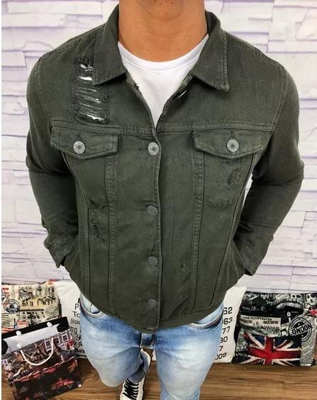 Jaqueta Blusa Jeans Homem Moderno Marcas De Luxo Original